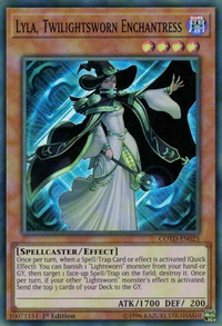 YuGiOh! TCG karta: Lyla, Twilightsworn Enchantress
