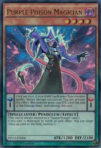 YuGiOh! TCG karta: Purple Poison Magician