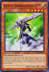 YuGiOh! TCG karta: Silent Swordsman LV5