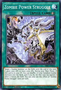 YuGiOh! TCG karta: Zombie Power Struggle