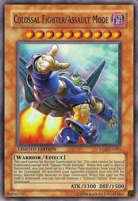 YuGiOh! TCG karta: Colossal Fighter/Assault Mode