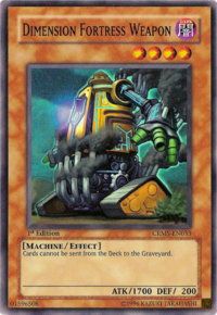 YuGiOh! TCG karta: Dimension Fortress Weapon