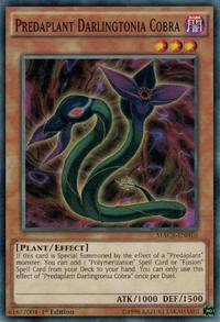 YuGiOh! TCG karta: Predaplant Darlingtonia Cobra