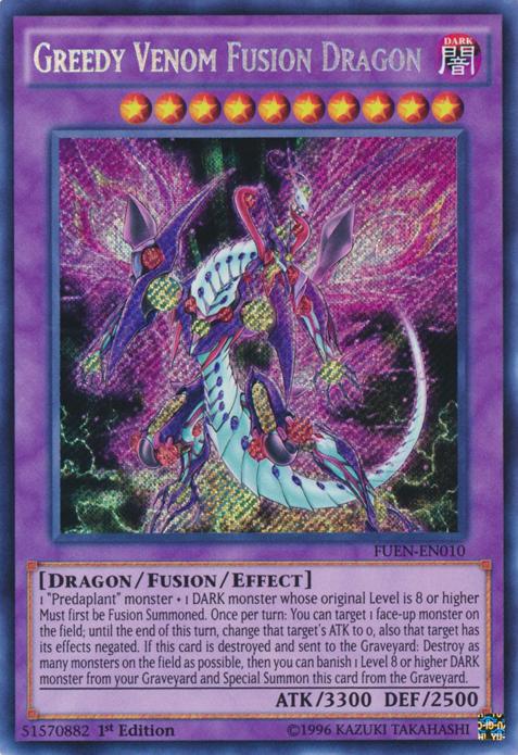 Yugioh Japanese SPFE-JP010 Secret Greedy Venom Fusion Dragon