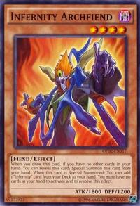 YuGiOh! TCG karta: Infernity Archfiend