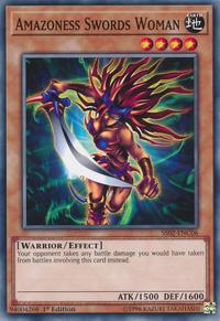 YuGiOh! TCG karta: Amazoness Swords Woman
