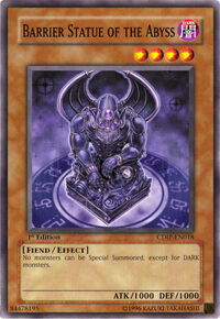 YuGiOh! TCG karta: Barrier Statue of the Abyss
