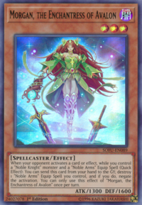 YuGiOh! TCG karta: Morgan, the Enchantress of Avalon
