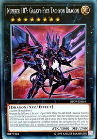 YuGiOh! TCG karta: Number 107: Galaxy-Eyes Tachyon Dragon