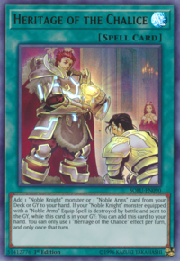 YuGiOh! TCG karta: Heritage of the Chalice