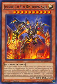 YuGiOh! TCG karta: Jizukiru, the Star Destroying Kaiju