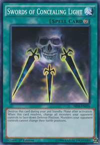 YuGiOh! TCG karta: Swords of Concealing Light