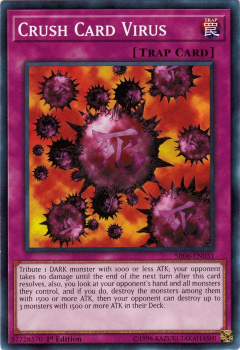 Common YUGIOH MIL1-EN047 Crush Card Virus