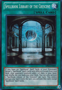 YuGiOh! TCG karta: Spellbook Library of the Crescent