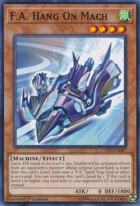 YuGiOh! TCG karta: F.A. Hang On Mach