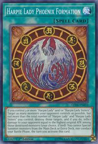 YuGiOh! TCG karta: Harpie Lady Phoenix Formation
