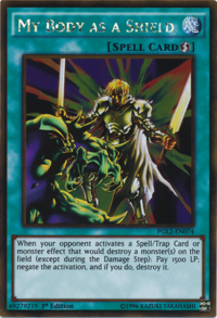YuGiOh! TCG karta: My Body as a Shield