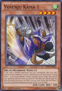 YuGiOh! TCG karta: Yosenju Kama 1