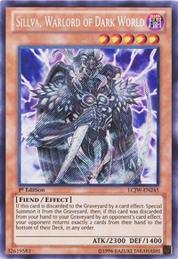 YuGiOh! TCG karta: Sillva, Warlord of Dark World
