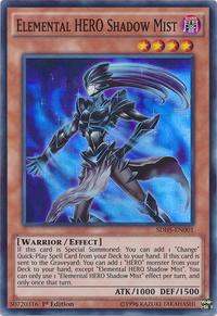 YuGiOh! TCG karta: Elemental HERO Shadow Mist