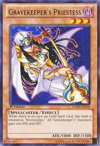 YuGiOh! TCG karta: Gravekeepers Priestess