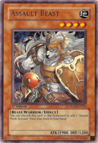 YuGiOh! TCG karta: Assault Beast