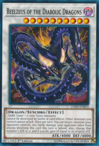 YuGiOh! TCG karta: Beelzeus of the Diabolic Dragons