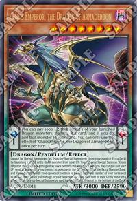 YuGiOh! TCG karta: Chaos Emperor, the Dragon of Armageddon