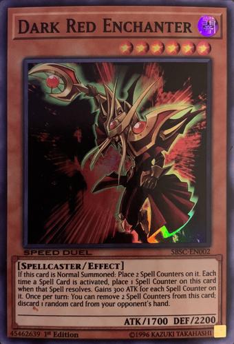 Yu Gi Oh FRENCH SDSC-FR006 Dark Red Enchanter Enchanteur Ecarlate