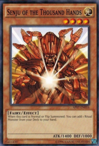 YuGiOh! TCG karta: Senju of the Thousand Hands