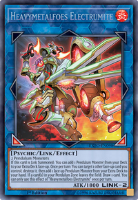 YuGiOh! TCG karta: Heavymetalfoes Electrumite