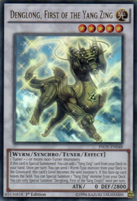 YuGiOh! TCG karta: Denglong, First of the Yang Zing