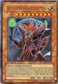 YuGiOh! TCG karta: Arcanite Magician/Assault Mode