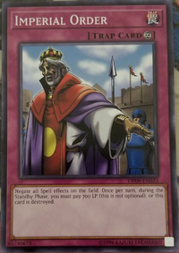 YuGiOh! TCG karta: Imperial Order
