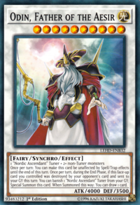 YuGiOh! TCG karta: Odin, Father of the Aesir