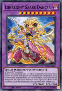 YuGiOh! TCG karta: Lunalight Sabre Dancer