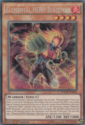 Elemental HERO Blazeman WSUP