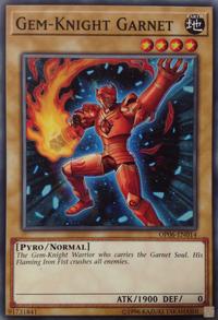 YuGiOh! TCG karta: Gem-Knight Garnet