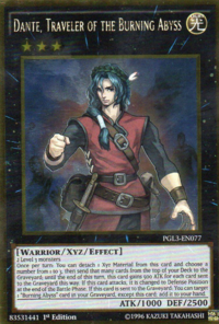 YuGiOh! TCG karta: Dante, Traveler of the Burning Abyss