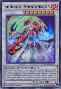 YuGiOh! TCG karta: Shiranui Shogunsaga