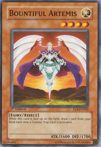 YuGiOh! TCG karta: Bountiful Artemis