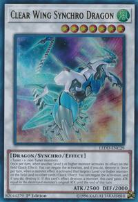 YuGiOh! TCG karta: Clear Wing Synchro Dragon