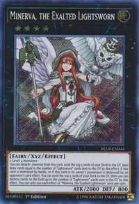 YuGiOh! TCG karta: Minerva, the Exalted Lightsworn