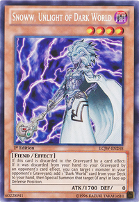YuGiOh! TCG karta: Snoww, Unlight of Dark World