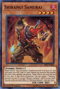 YuGiOh! TCG karta: Shiranui Samurai