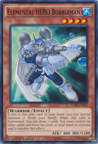 YuGiOh! TCG karta: Elemental HERO Bubbleman