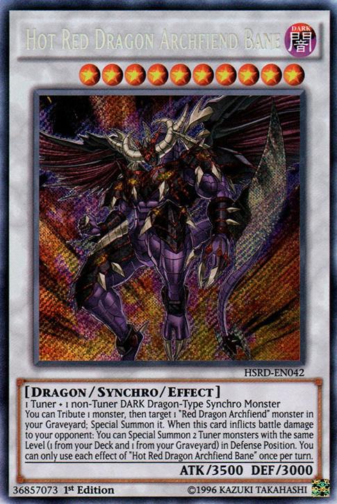 HotRedDragonArchfiendBane-HSRD-EN-ScR-1E. English, Hot Red Dragon Archfiend  Bane