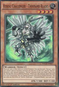 YuGiOh! TCG karta: Heroic Challenger - Thousand Blades