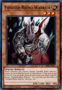 YuGiOh! TCG karta: Fiendish Rhino Warrior