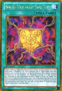 YuGiOh! TCG karta: Rank-Up-Magic Argent Chaos Force